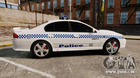 Ford Falcon XR8 Police Western Australia [ELS] pour GTA 4 est une gauche