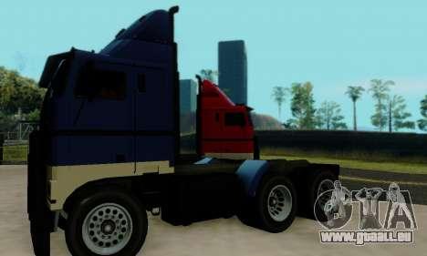 Hauler GTA V pour GTA San Andreas vue arrière