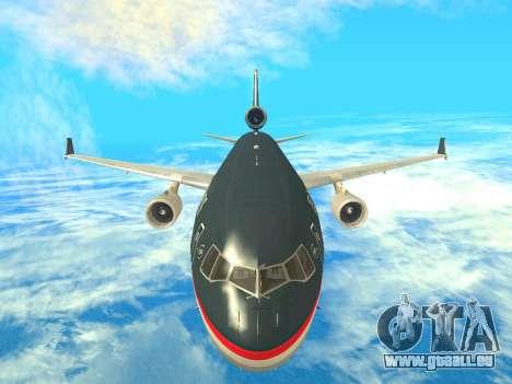 McDonnell Douglas MD-11 US Airways pour GTA San Andreas vue intérieure