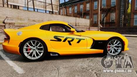 Dodge Viper SRT GTS 2013 pour GTA 4 est une gauche