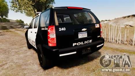 Chevrolet Tahoe 2008 LCPD [ELS] für GTA 4 hinten links Ansicht