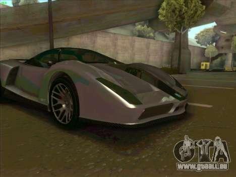 Cheetah Grotti GTA V pour GTA San Andreas vue intérieure