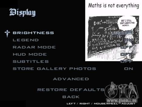 New Menu 2001 pour GTA San Andreas quatrième écran