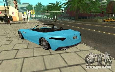 Benefactor Surano GTA V pour GTA San Andreas sur la vue arrière gauche
