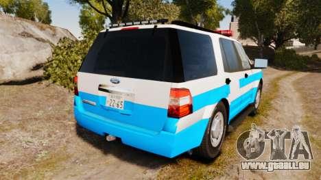 Ford Expedition Japanese Police SSV v2.5F [ELS] pour GTA 4 Vue arrière de la gauche