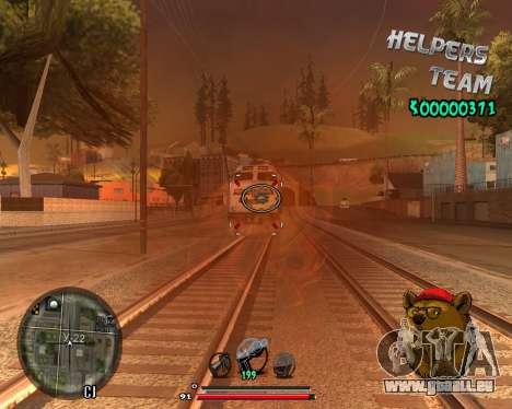 C-HUD Bear pour GTA San Andreas deuxième écran