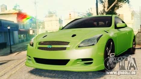 Infiniti G37 2008 Black Shark Pro-Service v1.0 für GTA 4