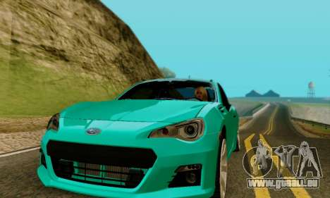 Subaru BRZ pour GTA San Andreas vue de droite