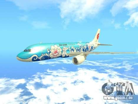Airbus A320 Air China für GTA San Andreas Innenansicht