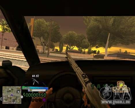 Vue à partir de la première personne pour GTA San Andreas deuxième écran