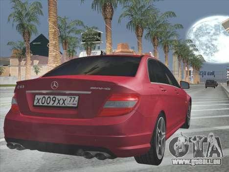Mercedes-Benz C63 AMG HQLM für GTA San Andreas obere Ansicht