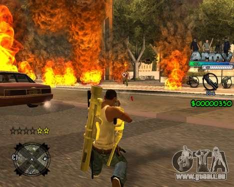 C-HUD For Army pour GTA San Andreas troisième écran