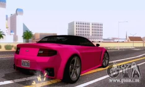GTA V Rapid GT Cabrio pour GTA San Andreas vue arrière