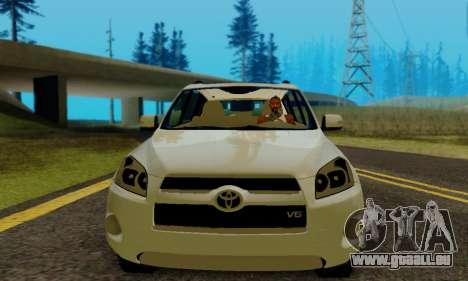 Toyota RAV4 pour GTA San Andreas vue arrière