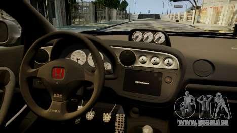 Honda Mugen Integra Type-R 2002 pour GTA 4 est une vue de l'intérieur