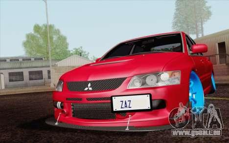 Mitsubishi Lancer MR Edition pour GTA San Andreas vue intérieure