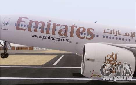 Emirates Airlines 777-200 für GTA San Andreas rechten Ansicht