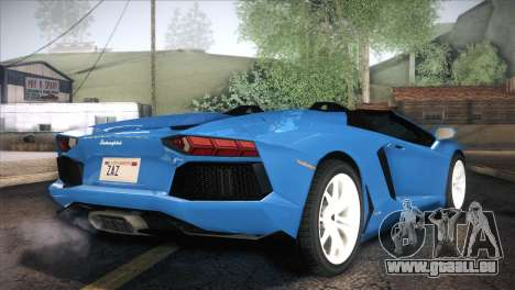 Lamborghini Aventador Roadster pour GTA San Andreas sur la vue arrière gauche