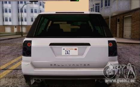 Abgestimmt Gallivanter Baller из GTA V für GTA San Andreas Seitenansicht