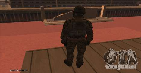 Global Defense Initiative Soldier pour GTA San Andreas troisième écran