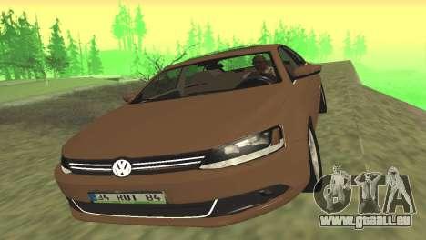 Volkswagen Jetta 1.4 2013 TSI Highline pour GTA San Andreas laissé vue
