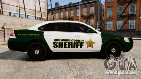 Chevrolet Impala 2010 Broward Sheriff [ELS] pour GTA 4 est une gauche