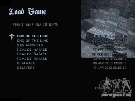 New Menu 2001 pour GTA San Andreas septième écran