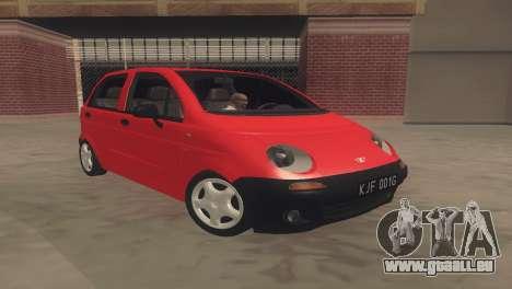 Daewoo Matiz I SE 1998 pour GTA San Andreas laissé vue