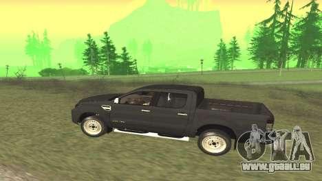 Ford Ranger Limited 2014 pour GTA San Andreas vue de droite