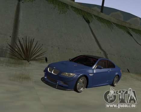 BMW M3 E92 pour GTA San Andreas vue intérieure