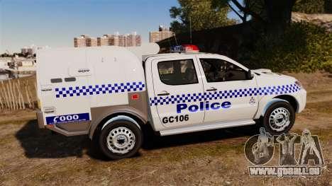 Toyota Hilux Police Western Australia pour GTA 4 est une gauche