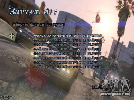 New Menu GTA 5 für GTA San Andreas dritten Screenshot