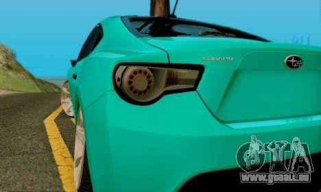 Subaru BRZ pour GTA San Andreas vue de côté
