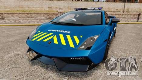 Lamborghini Gallardo Gendarmerie National [ELS] pour GTA 4