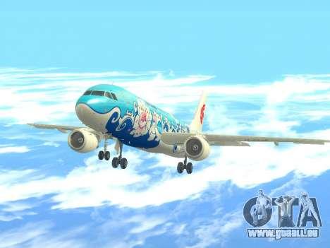 Airbus A320 Air China für GTA San Andreas Rückansicht