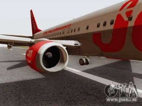 Boeing 737-800 Jet2 für GTA San Andreas zurück linke Ansicht