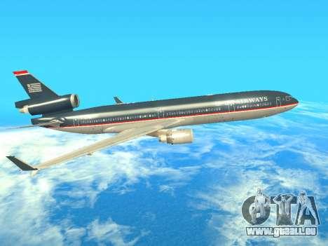 McDonnell Douglas MD-11 US Airways für GTA San Andreas zurück linke Ansicht