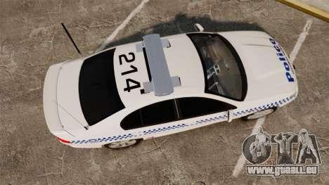 Ford Falcon XR8 Police Western Australia [ELS] für GTA 4 rechte Ansicht