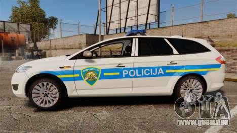 Ford Mondeo Croatian Police [ELS] pour GTA 4 est une gauche
