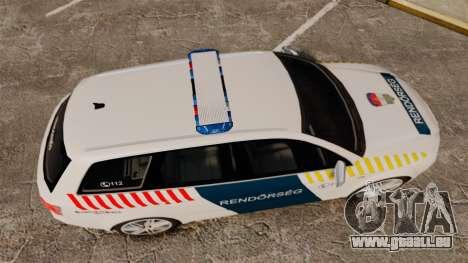 Audi S4 Avant Hungarian Police [ELS] für GTA 4 rechte Ansicht