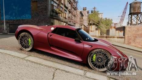 Porsche 918 Spyder für GTA 4 linke Ansicht