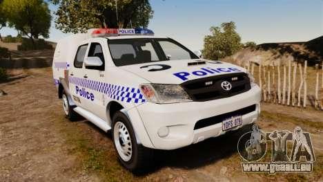 Toyota Hilux Police Western Australia pour GTA 4