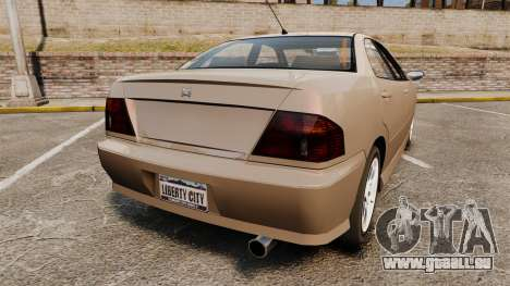 Dinka Chavos new wheels für GTA 4 hinten links Ansicht