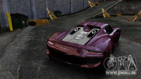 Porsche 918 Spyder für GTA 4 Seitenansicht