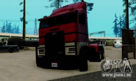 Hauler GTA V pour GTA San Andreas sur la vue arrière gauche