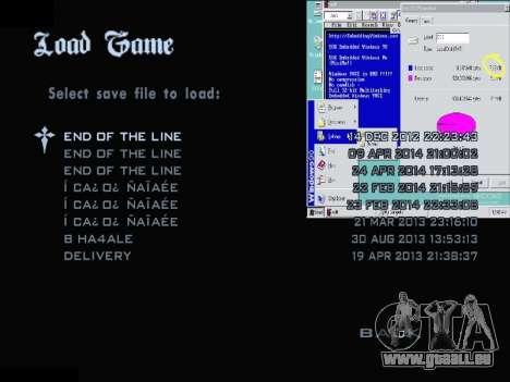 Das Windows-Menü für GTA San Andreas dritten Screenshot