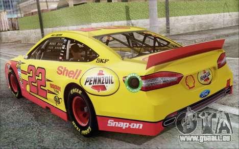 Ford Fusion NASCAR Sprint Cup 2013 für GTA San Andreas rechten Ansicht