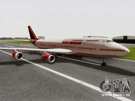 Boeing 747 Air India pour GTA San Andreas sur la vue arrière gauche