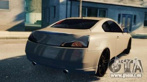 Infiniti G37 2008 Black Shark Pro-Service v1.0 für GTA 4 Innenansicht