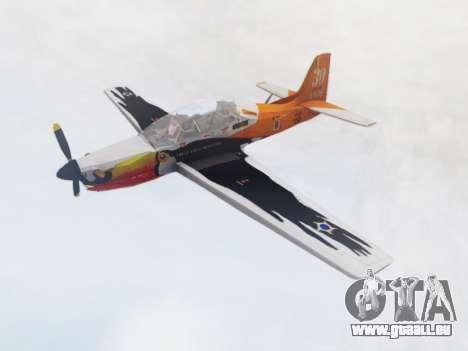 Embraer T-27 Tucano 30 Anos pour GTA San Andreas sur la vue arrière gauche